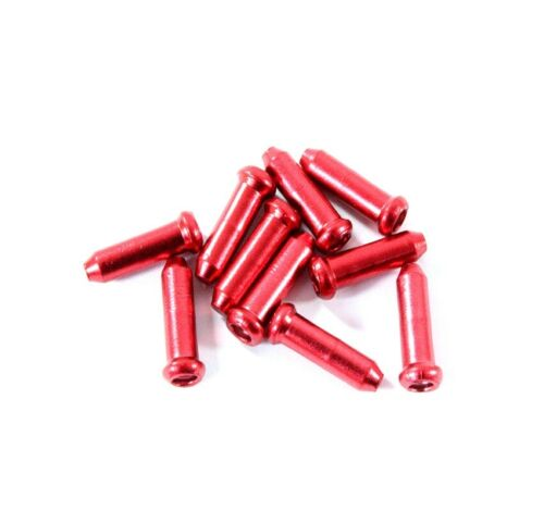 Bicycle End Caps Sleeves 10 Piece endhülsen for Bowden Cable 1,5-1,8mm Red