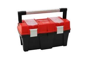 Werkzeugbox-APTOP-N18-schwarz-rot-45-x-25-x-24-cm-Werkzeug-Koffer-Kasten-Box-NEU