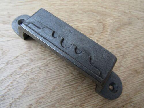 Cast Iron Rim Lock Kee Victorien Loquet Serrure épais à motifs