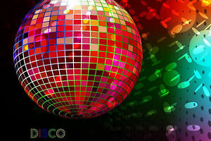 Lámina-Funky Multicolor Disco Ball (música de imágenes de arte cartel)  </span>