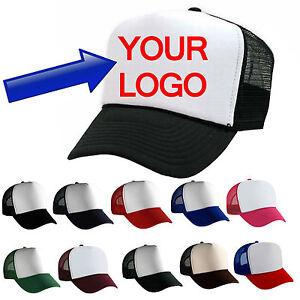 HAT CAP Custom Personalized White EMBROIDERED Trucker Baseball SCRIPT