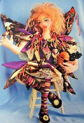 """SUNRISE ANGEL~Patti Medaris Culea 20/"""" *RARE 1995 cloth art doll pattern"""
