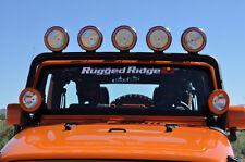 Windshield Mount Black Light Bar 2007-17 Jeep Wrangler JK Rugged Ridge 11232.21