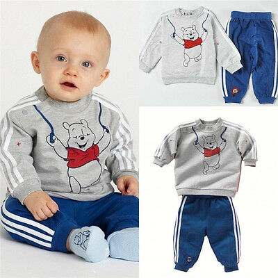 Toddler Boy Kids Baby Long Top Hoody+Pants Trousers Set Tracksuits Clothes LXL