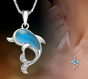 925 sterling silver dolphin pendant dolphin type opal pendant image is loading 925 sterling silver dolphin pendant dolphin type opal aloadofball Choice Image