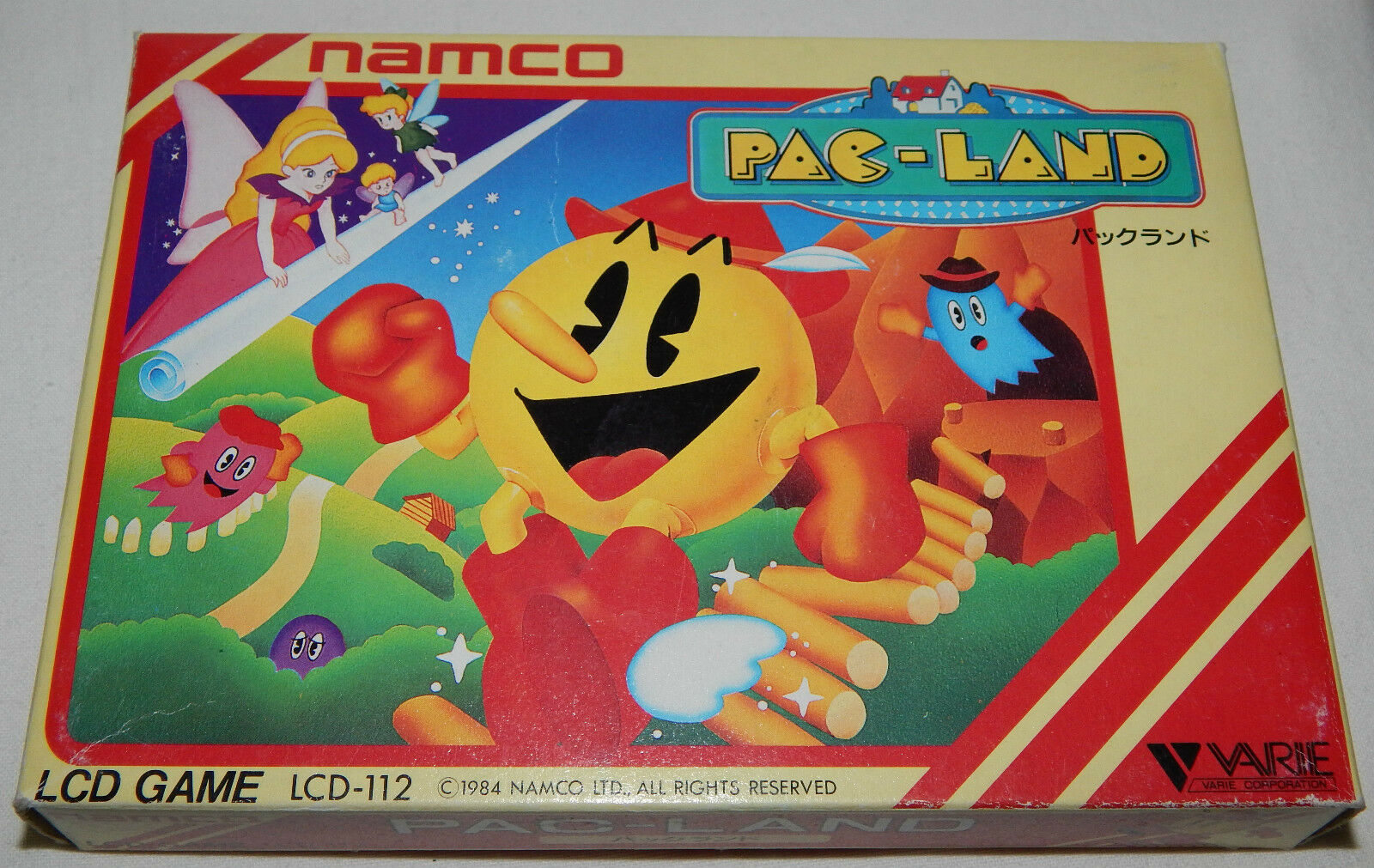 VINTAGE PAC-LAND (PACMAN) LCD HANDHELD GAME BY NAMCO IN BOX BOXED NOS
