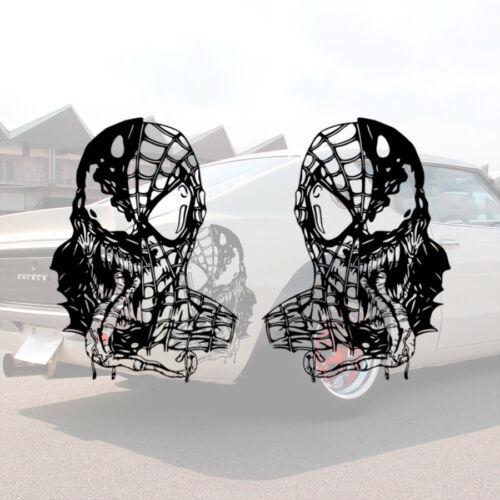 2x Pair Venom Spider-Man Parker Eddie Brock Symbiote Comic Vinyl Sticker Decal