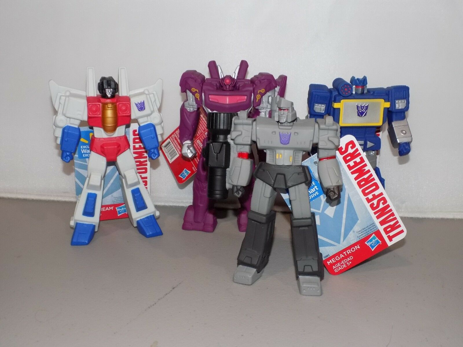 Transformers 6 inch figures PVC stiff arms Wal Mart Exclusive 4 Decepticons