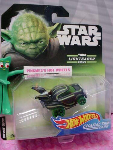 2018 STAR WARS YODA lightsaber Series✰Hot Wheels 1:64 Character cars✰Disney