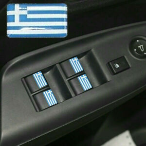 Details About Greece Flag Logo X4 Car Interior Stickers Greek Badge 3d Dome Decal Wrc