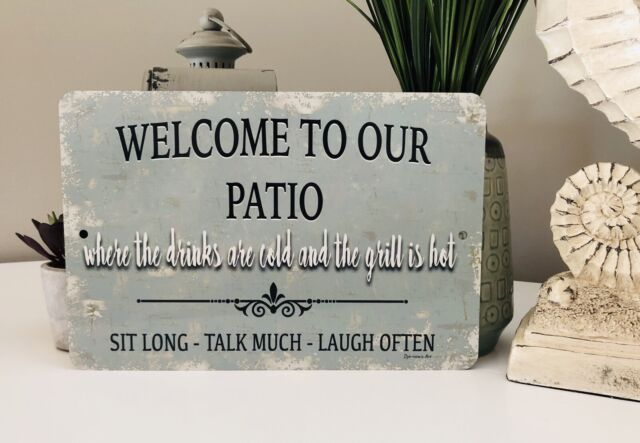 WELCOME TO OUR REFUGE DROP IN REST AWHILE Duck Lake Cabin Wall Home Decor Sign