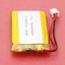 3.7V 2000mAh Li-po Akku Li-Batterie Polymer Battery 103450 PCM Rechargeable de