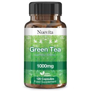 Extracto-de-te-verde-1000mg-Super-Fuerza-120-capsulas-Vegano-comprimidos-de-perdida-de-peso