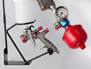 BURISCH LVLP Spray gun spraygun GTR500 1.3mm plus Regulator, filter, stand