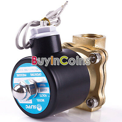 """New 1/2"""" 12V DC 2W160-15 Electric Solenoid Valve N/C Gas Water Air"""