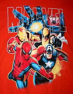 Details about Marvel Comics Universe Spiderman Iron Man Wolverine Captain  T-Shirt New Size L