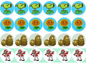 Plants Vs Zombies Printables Cup Cake Topper