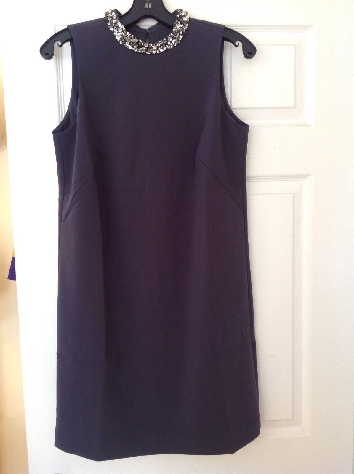 Ann Taylor Jeweled Neck Dress, NWT, sz.6 , grau, orig Sold out style