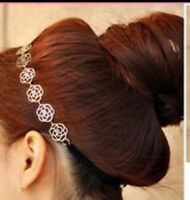 Hollow Rose Flower Elastic Hair Band Headband