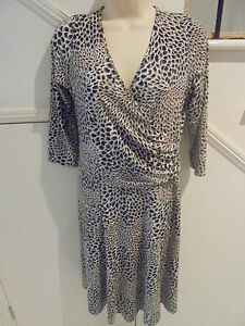LADIES-GINGER-TREE-LABEL-NWOT-SIZE-S-14-BLACK-TAUPE-WHITE-DRESS-039-VERY-DRESSY-039