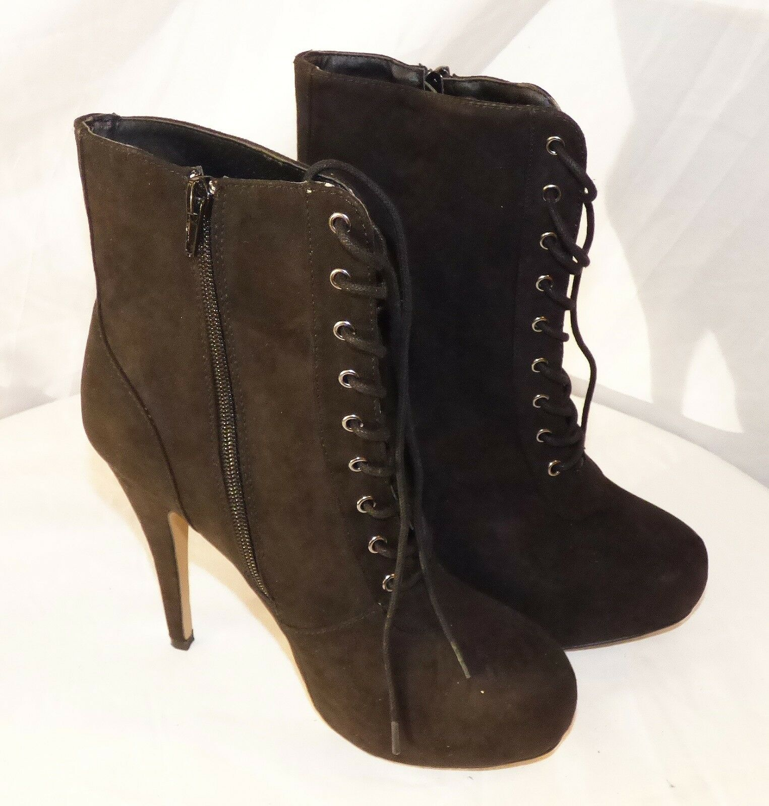 Authentic Forever 21 Leather Boots High Heel Sz 8 Very good NEW Condition