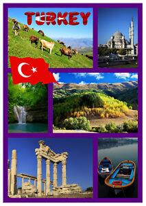 TURQU-A-RECUERDO-ORIGINAL-Iman-de-nevera-MONUMENTOS-Banderas-Regalos-NUEVO