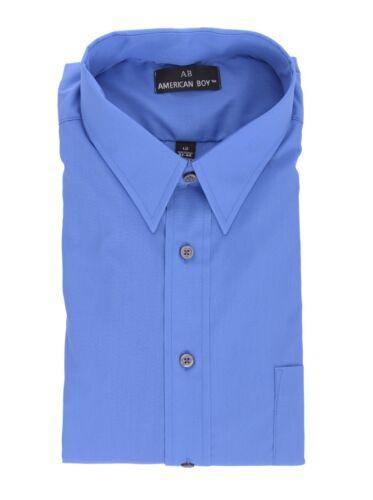 Mens AB Regular Fit Blue Cotton Blend Long Sleeve Dress Shirt 19.5 36//37 3XL