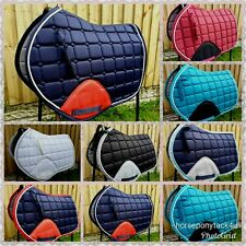 NEW COLOURS close contact jumping cut Saddle Pad cloth numnah cob or full size