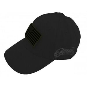 Voodoo-Tactical-20-935101000-Black-Baseball-Cap-Hat-w-Removable-USA-Flag-Patch