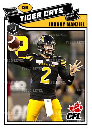 ACEO CFL JOHNNY MANZIEL HAMILTON TIGER CATS CUSTOM HAND MADE ART CARD