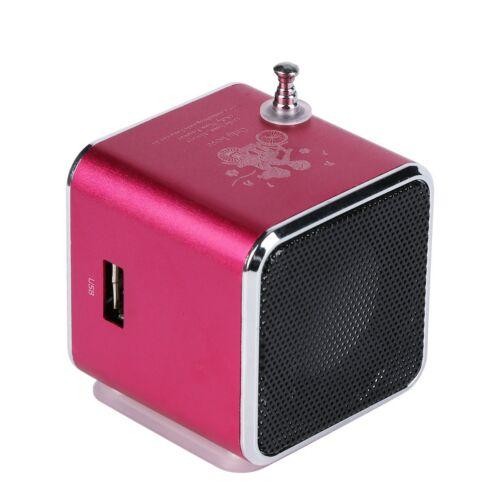 Portable Micro SD TF USB Mini Stereo Bass Speaker Music Player FM Radio MP3 LN