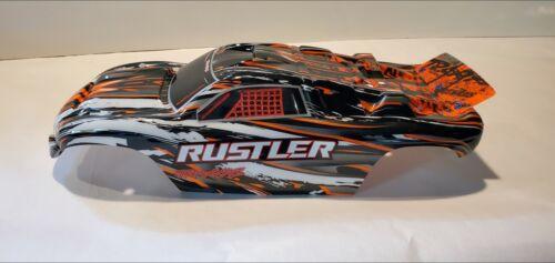 Traxxas RUSTLER 1//10 body shell Orange Silver Black White Painted 2WD NEW