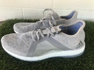 07eb4c36e Women s Adidas Pure Boost X Element Knit Gray Running Shoes Size 10 ...