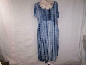 JayJay-XL-Womens-Dress-Asymmetrical-High-Low-Tie-Dye-Blue-Soft-Stretchy