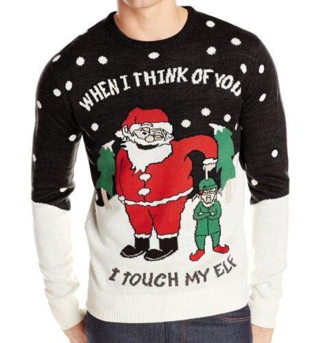 Christmas Jumpers Mens Ginger Bread Xmas Novelty Rude Santa Elf Snowman Sweater