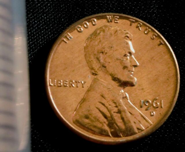 1961-D 1C RD Lincoln Cent