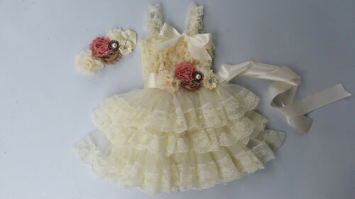 girl dress sash flower girl dress birthday outfit tea party girl dress peach...