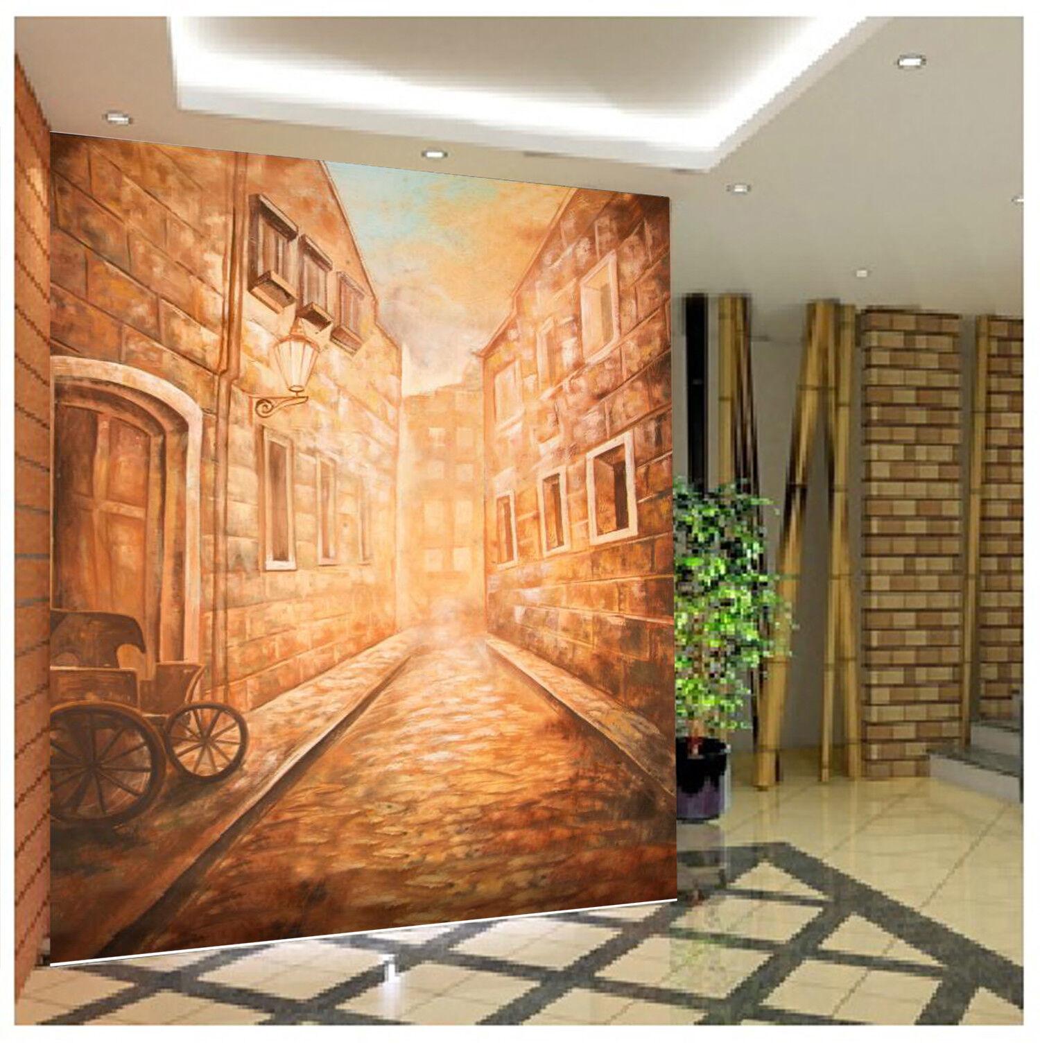 3D Street Pattern 4 Wallpaper Murals Wall Print Wallpaper Mural AJ WALL AU Lemon