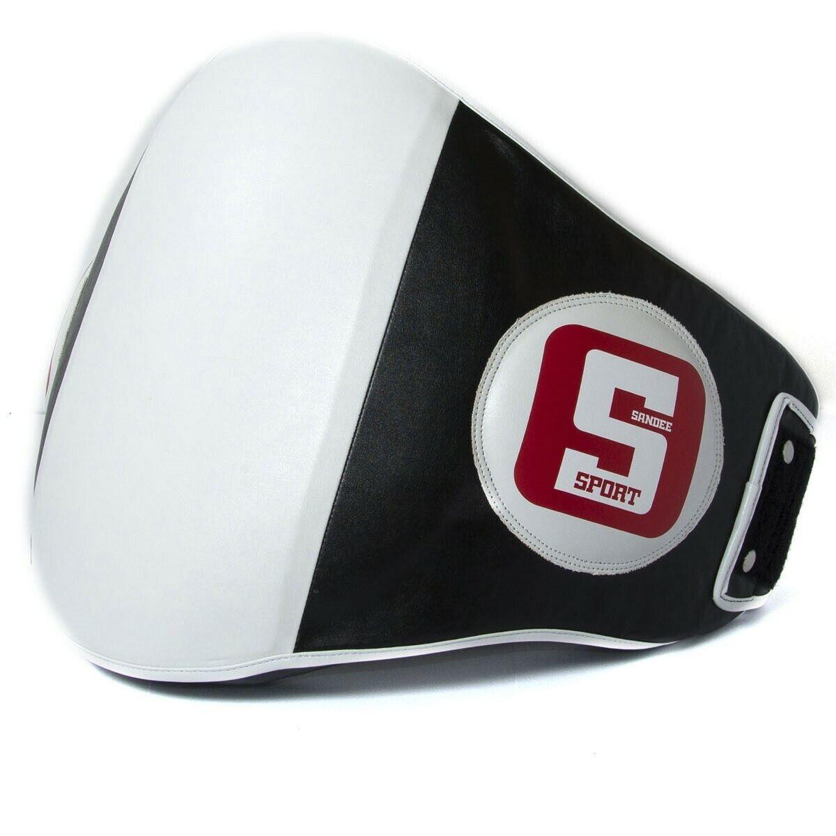 Seee Sport pelle Sintetica Pancia Panno Bianco Nero Colpire Thai scatolae Calci