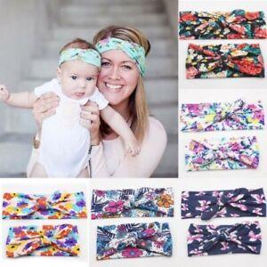 2PCS-Womens-amp-Kids-Girls-Baby-Headband-Bow-Flower-Hair-Band-Accessories-Headwear