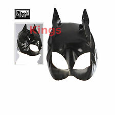 Black Vinyl Cat Mask Masquerade Mask Cat Woman Cat Ears Fancy Dress Dress Up