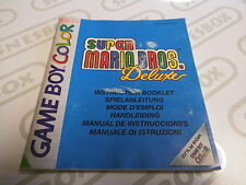 Super Mario Bros. Deluxe Spielanleitung Manual Nintendo GameBoy Color