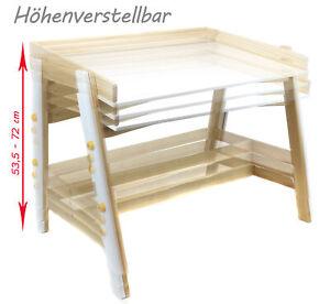 Kinder-MALTISCH-hoehenverstellbar-Schreibtisch-Zeichentisch-Spieltisch-Holz