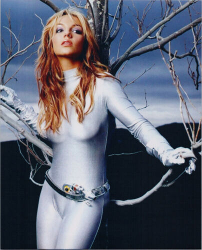 Britney Spears 8x10 publicity photo in silver space suit costume