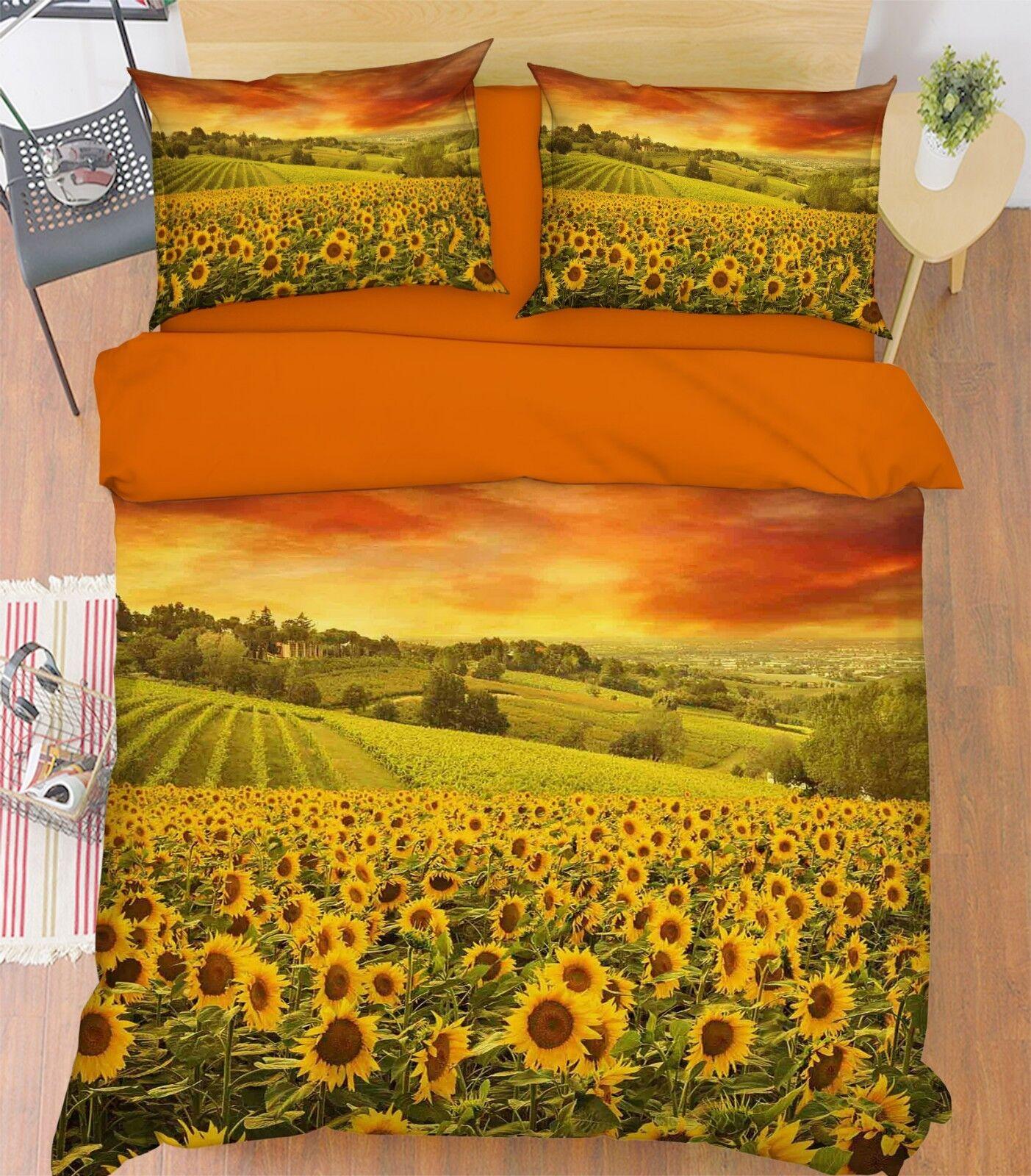 3D Sky Flowers 678 Bett Pillowcases Quilt Duvet Startseite Set Single Königin AU Carly