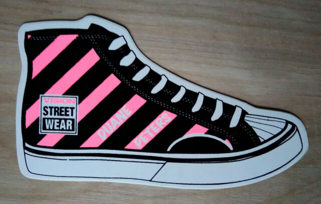 9372ea4df8a VISION STREET WEAR~VINYL STICKER~ Duane Peters High Top Sneaker~STUSSY