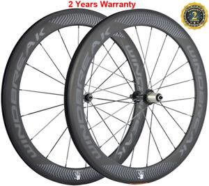 60mm-Carbon-Wheels-Road-Bike-Clincher-23mm-Width-Carbon-Cycle-Wheelset-700C-Bike