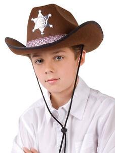Hut Sheriff Junior Braun Fur Kinder Fasching Karneval