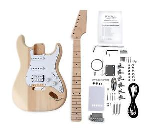 rocktile pst e gitarre bausatz selber bauen do it yourself kit diy set basteln ebay. Black Bedroom Furniture Sets. Home Design Ideas