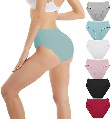 ccko Cotton Underwear for Women No Muffin Top Panties for Women Plus Size Stretch Womens Briefs Multipack